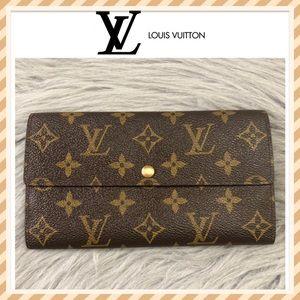 Authentic Louis Vuitton Monogram Sarah Wallet